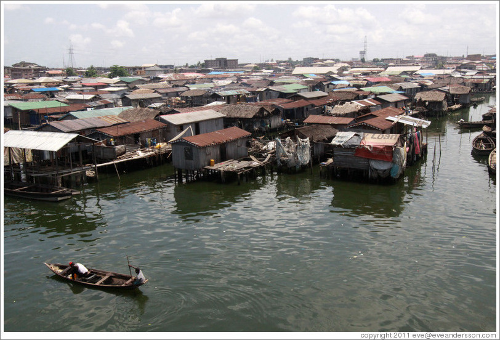 Makoko, floating neighborhood of Lagos
